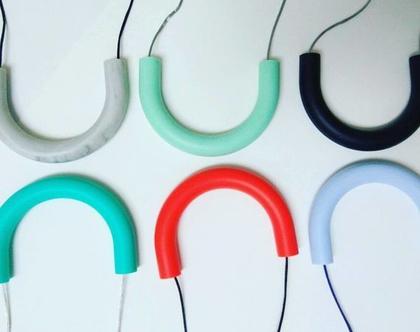 שרשרת סיליקון דגם U בצבעים שונים