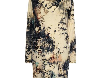 שמלת גולף חורפית בהדפס נחש