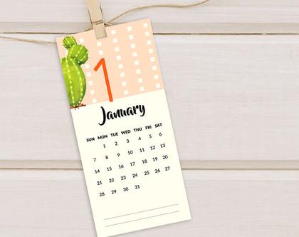 לוחות שנה 2020 | קקטוסים | לוחות שנה אישיים, ממותגים