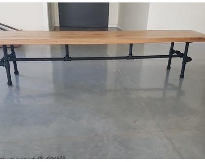 ספסל מצינורות 2 מטר אורך