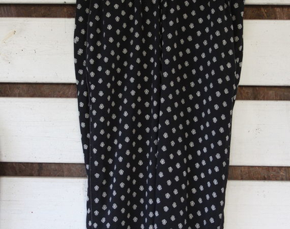 אבישג ארבל-מכנס הריון הדפס שחור