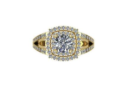 טבעת זהב מרשימה, טבעת זהב 14 קרט משובצת זרקונים עם שליח עד אלייך