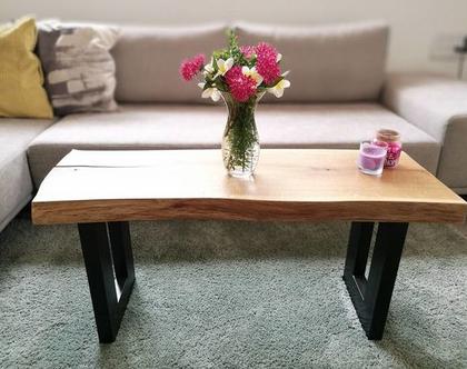 שולחן קפה אלון טבעי