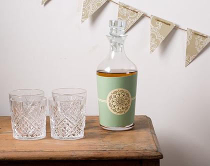 Trendy Mint   מדבקות לבקבוקים לעיצוב שולחן