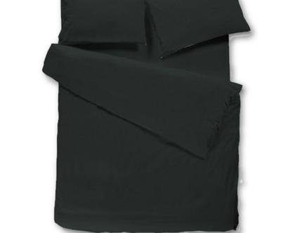 זוג ציפיות כותנה בצבע שחור | מארז ציפיות שחורות | ציפית לכרית | ציפית שחורה