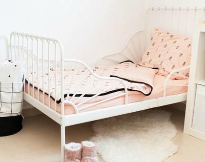 סט למיטת מעבר - לונה פארק אפרסק 100% כותנה אורגנית