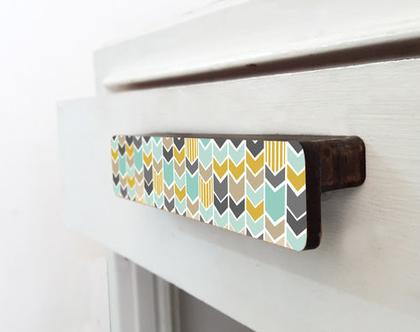 ידית ארוכות מעץ, ידית מעוצבת לדלת ארון ומגירה, עיצוב סקנדינבי נורדי