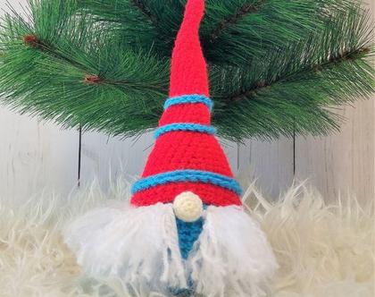 גמד ,חג המולד,כריסמס,בובה סרוגה