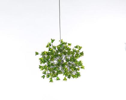 גוף תאורה פרח קופצני ירוק