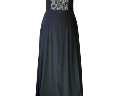 שמלת מחוך מקסי שחורה