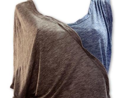 חולצת מדבר עם כתפיה ושרוול