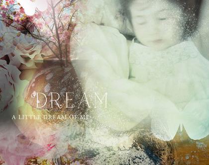 Make A Wish | ילדה ישנה | תמונה יפהפיה ומיוחדת | אווירה חלומית | קנבס ממוסגר לתליה | תמונה לקיר | תמונות מקוריות | הום סטיילינג