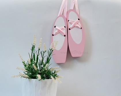 נעלי בלט מעץ   רקדנית בלט   עיצוב חדרי ילדות   בלרינה