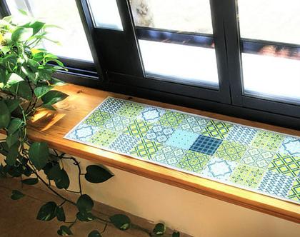 ראנר לגינה ולבית פסיפס כחול