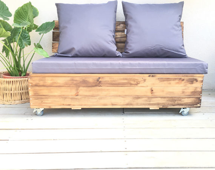 פוטון אחסון - ספסל פוטון / זולה כולל אחסון , ישיבה נמוכה עם אחסון , ספסל חצר עם תא אחסון