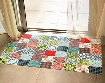 שטיח PVC פסיפס צבעוני