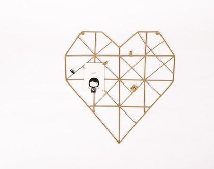 רשת השראה לתמונות,לוח השראה, לוח למשרד,רשת השראה לחדרי ילדים,לב זהב,עיצוב המשרד
