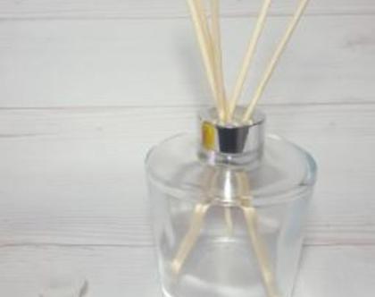 """צנצנת זכוכית לדיפיוזר - מפיץ ריח - 230 מ""""ל"""