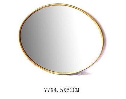 מראה מברזל אובלית צבע זהב (ניתן לקבל בכל צבע)