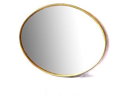 מראה מברזל אובלית גדולה צבע זהב (ניתן לקבל בכל צבע)
