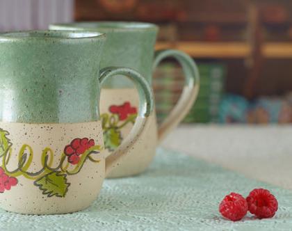 זוג ספלים מקרמיקה, סט ספלי קפה, סט ספלים מחמר, ספל מחמר, ספל חרס, ספל לקפה, ספל גדול, כוס לתה, מתנה לחג, מתנה אישית, ספל (מיוצר לפי הזמנה)