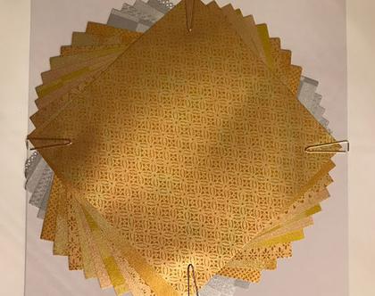 אוריגמי   זהב   נייר יפני   יצירה   נייר יפני   סט ניירות