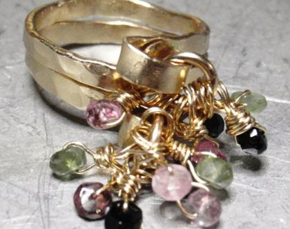טבעת גולדפילד בשילוב טורמלינים