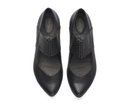 נעלי מעצבים- ויקי, נעלי בלרינה שחורות