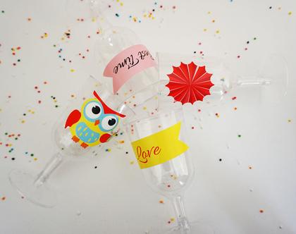 ערכת מדבקות יום הולדת לעיצוב שולחן, להדבקה על כלים חד פעמיים , עטיפות וכרטיסי ברכה