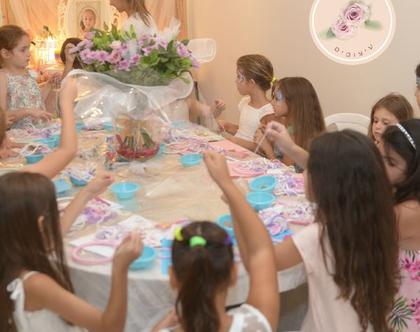 הפעלת יום הולדת לבנות, סדנת יום הולדת יצירה, יצירה ליום הולדת 9 10 11, הפעלת יצירה ליום הולדת בנות, הפעלת יום הולדת, יום הולדת מקרמה לבנות