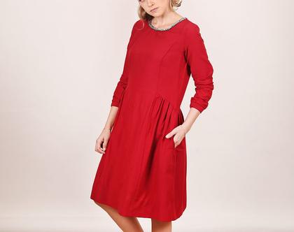 שמלת שרשרת יין
