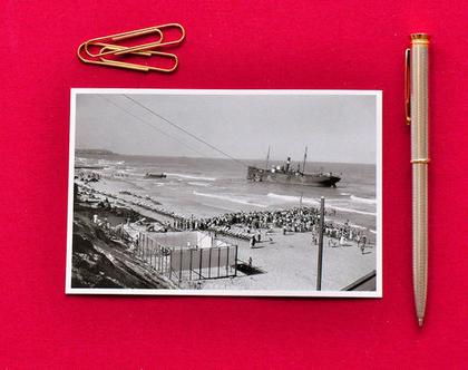 גלויה: אניה בחופי תל-אביב