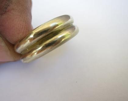 טבעת נישואים מיוחדת בעבודת יד לגבר ולאשה מזהב