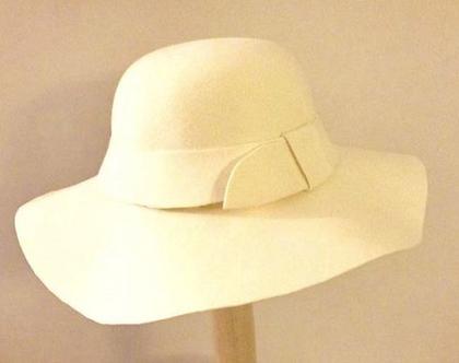 כובע לבד רחב שוליים לנשים STYLISH AND ELEGANT WINTER HAT