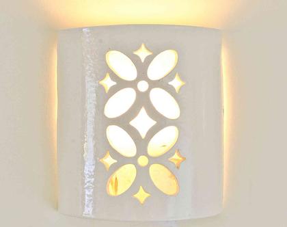 גוף תאורה מקרמיקה- אורית | תאורת קיר | תאורה לבית | תאורה מעוצבת | מנורה מקרמיקה | מנורת קיר | מנורה מעוצבת | מנורה לסלון | אהיל מעוצב