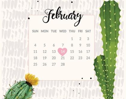 לוח שנה אישי להדפסה עצמית | שנת 2020 | לוח שנה ממותג אישית עם סימון תאריכים חשובים