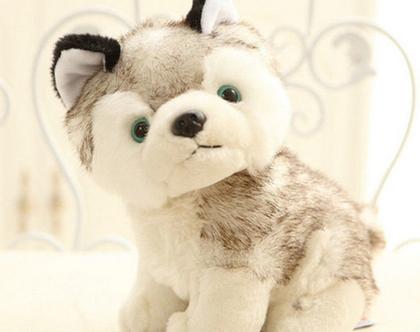 כלב פרווה | בובת פרווה | בובה לתינוק | בובה לילדים | כלב סיבירי | מתנות לילדים