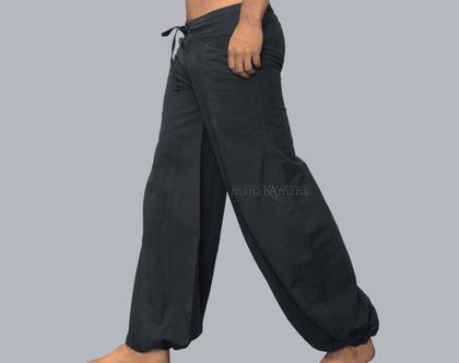 מכנס אפור-כהה שרוול עם 4 כיסים