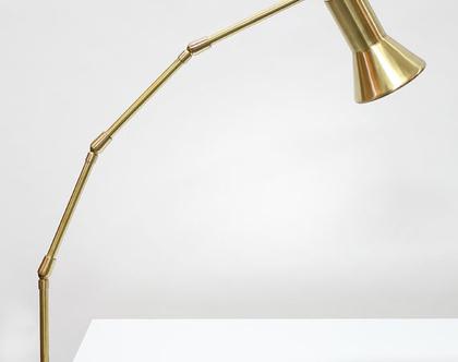 מנורת לילה גדולה מפליז, מנורת פליז, מנורת מדף זהובה, מנורת שולחן גדולה מפליז