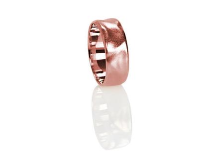 טבעת נישואין זהב אדום 14K, טבעת נישואין קלאסית, טבעת נישואין לאישה, טבעת נישואין לגבר, טבעת נישואין קלאסית, טבעת נישואין מעוצבת