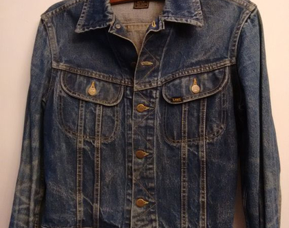ג'קט ג'ינס LEE משנות ה50' | ג'קט ג'ינס לי כחול לגבר / אישה מידה M L