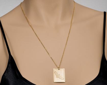 שרשרת ציפור/ שרשרת נשר / תליון בציפוי זהב/ מתנה לחגים / שרשרת נוכחות