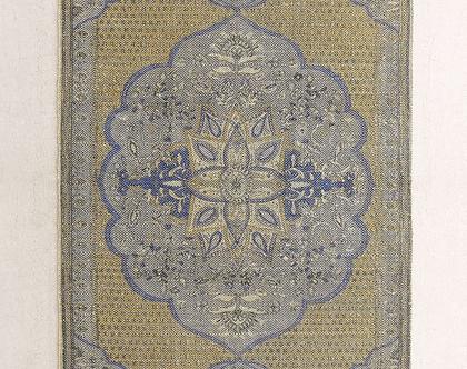 שטיח כותנה עבה בעיצוב פרסי