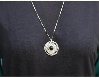 שרשרת פיליגרד מכסף בשילוב אבן אמטיסט