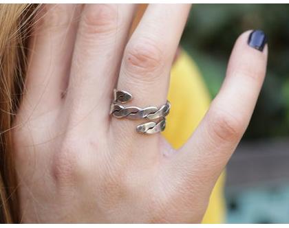 טבעת מסולסלת מכסף 925