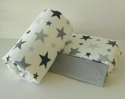 סט מצעים למיטת תינוק 100% כותנה | 3 חלקים כולל מגן ראש