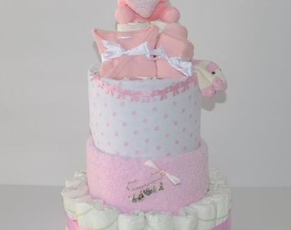 עוגת קומות ענקית בייבי מתנה-לה