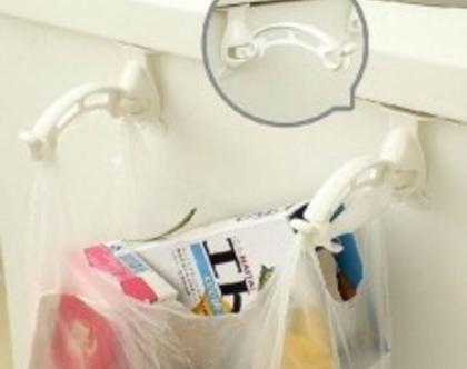 זוג מתלי עזר למטבח לשקיות אשפה מגבות ועוד…