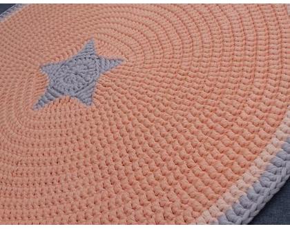שטיח טריקו | שטיח סרוג | שטיח עבודת יד | שטיח עגול | שטיח כוכב | שטיחים סרוגים