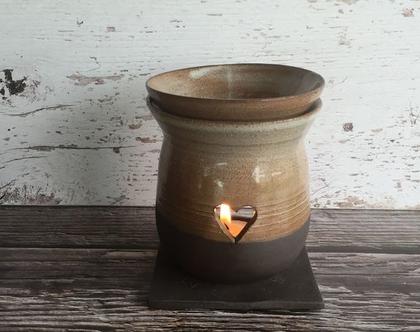 מבער שמנים שחור חום   מבער מקרמיקה   מבער לריח טוב   מתנה מקורית   אווירה לבית   עיצוב הבית   בישום לבית   מבער בצבע אפור
